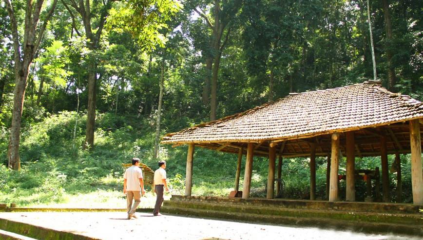 Đình Đá Húc nằm bên rừng lim cổ thụ