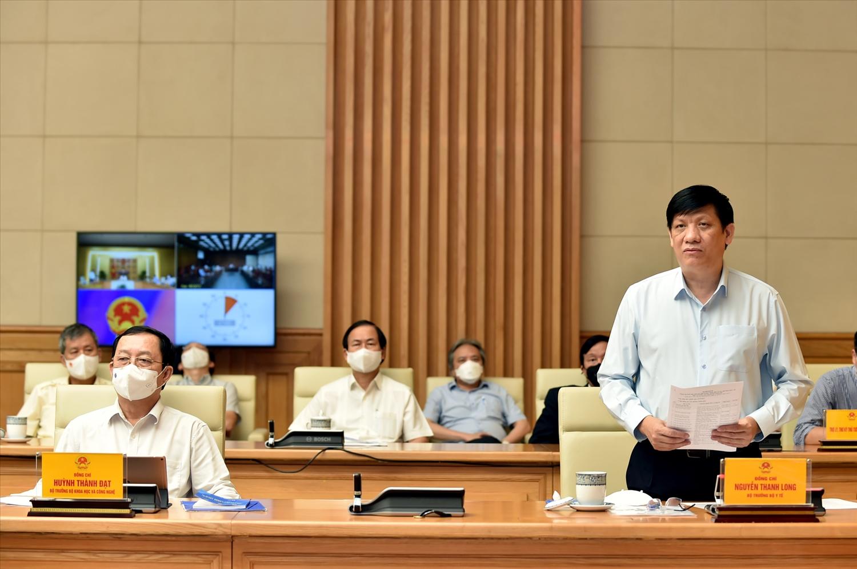 Bộ trưởng Bộ Y tế Nguyễn Thanh Long phát biểu. Ảnh: VGP/Nhật Bắc