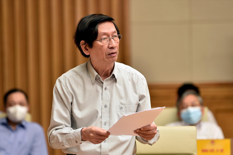 GS. Phạm Gia Khánh, nguyên Giám đốc Học viện Quân y, phát biểu tại buổi gặp mặt. Ảnh: VGP/Nhật Bắc