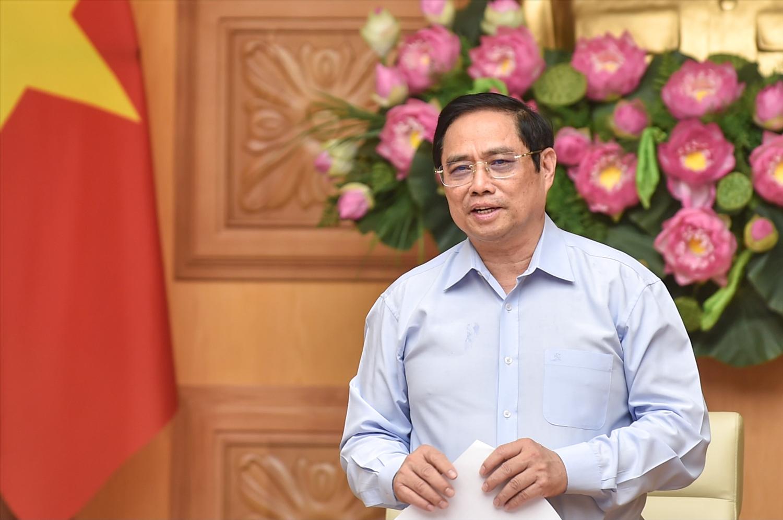Thủ tướng yêu cầu người đứng đầu các địa phương, bộ, ngành tiếp tục lắng nghe, giải quyết kịp thời, hiệu quả các khó khăn, vướng mắc, triển khai các biện pháp hỗ trợ các doanh nghiệp - Ảnh: VGP/Nhật Bắc