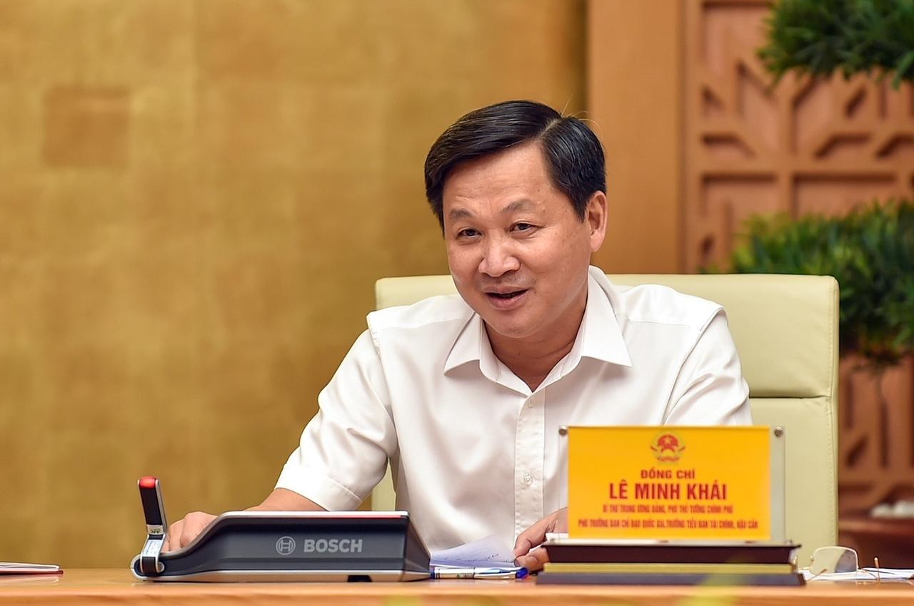 Phó Thủ tướng Lê Minh Khái tại cuộc họp. Ảnh: VGP/Nhật Bắc