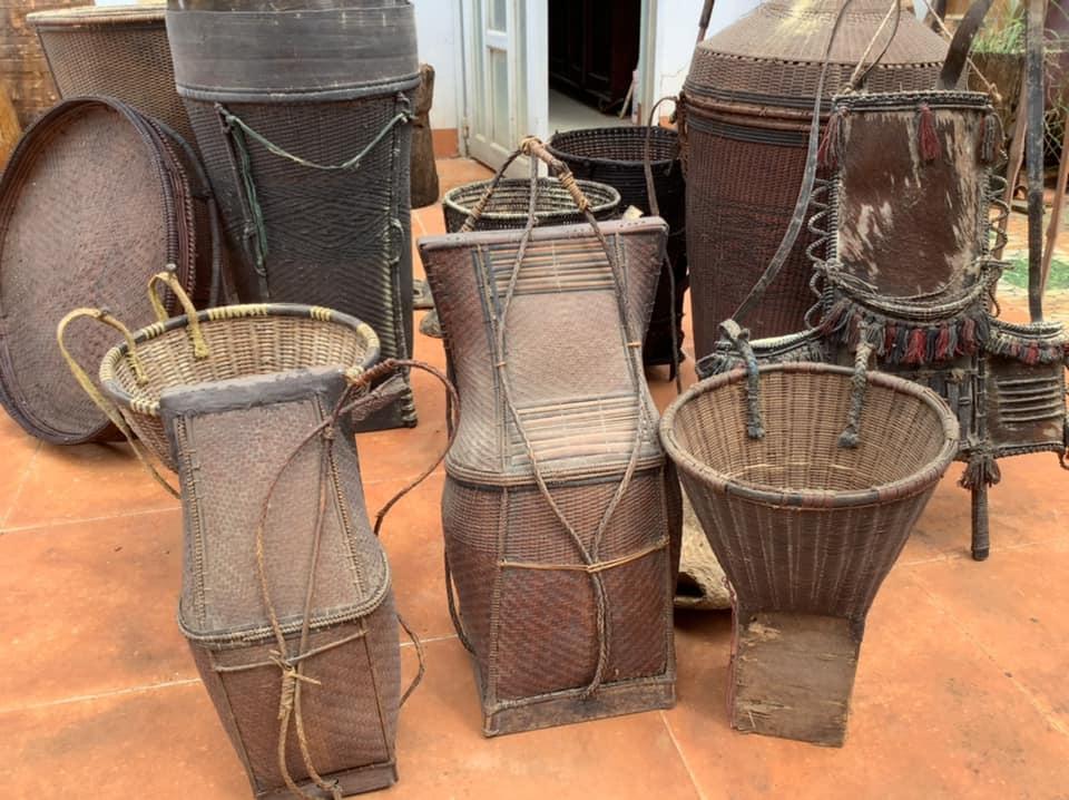 Những vật dụng sinh hoạt của đồng bào Tây Nguyên tại Bảo tàng