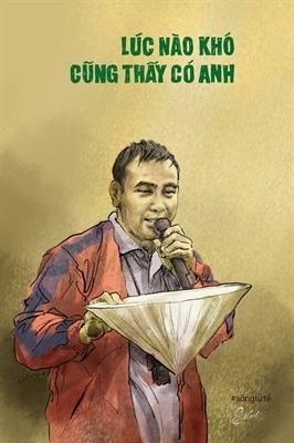 MC Quyền Linh qua nét vẽ của Trần Trung Lĩnh