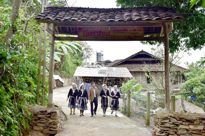Làng du lịch homestay thôn Khau Tràng, xã Hồng Thái (Na Hang). Ảnh: Quang Hòa
