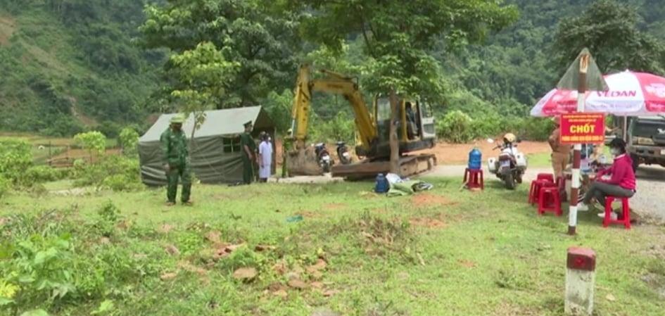 Trên tuyến biên giới Việt - Lào, tỉnh Quảng Trị đã thành lập 86 chốt kiểm soát phòng chống dịch Covid-19