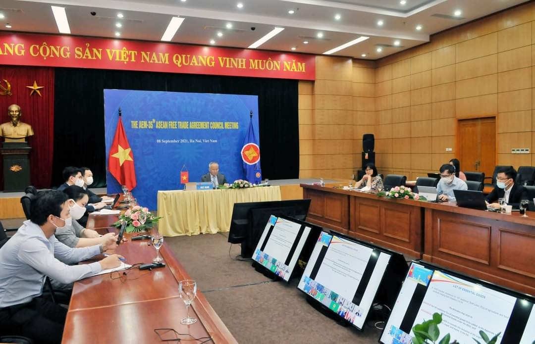 Toàn cảnh buổi tham dự Hội nghị trực tuyến của Đoàn Việt Nam