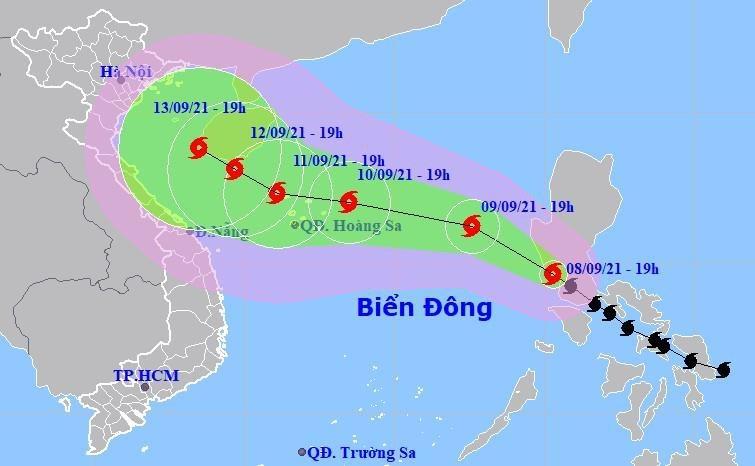 Nhận định mới nhất về đường đi của bão Côn Sơn khi vào Biển Đông đêm nay