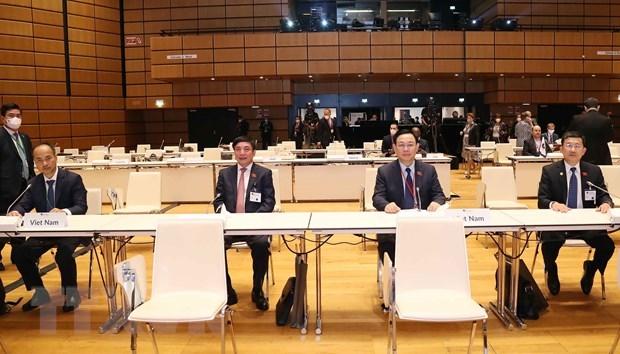 Chủ tịch Quốc hội Vương Đình Huệ và đại biểu dự Lễ khai mạc. Ảnh: Doãn Tấn/TTXVN