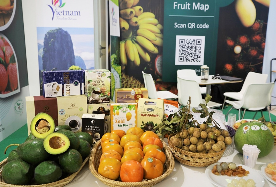 Các sản phẩm của Việt Nam được trưng bày tại Hội chợ
