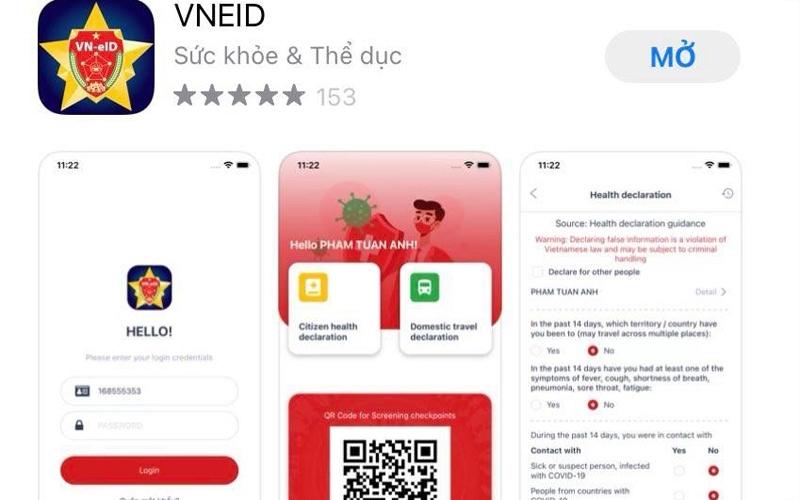 Ứng dụng VNEID được chính thức đưa vào sử dụng, hỗ trợ khai báo và nhận mã QR, thuận tiện cho việc đi lại khi qua chốt kiểm dịch.