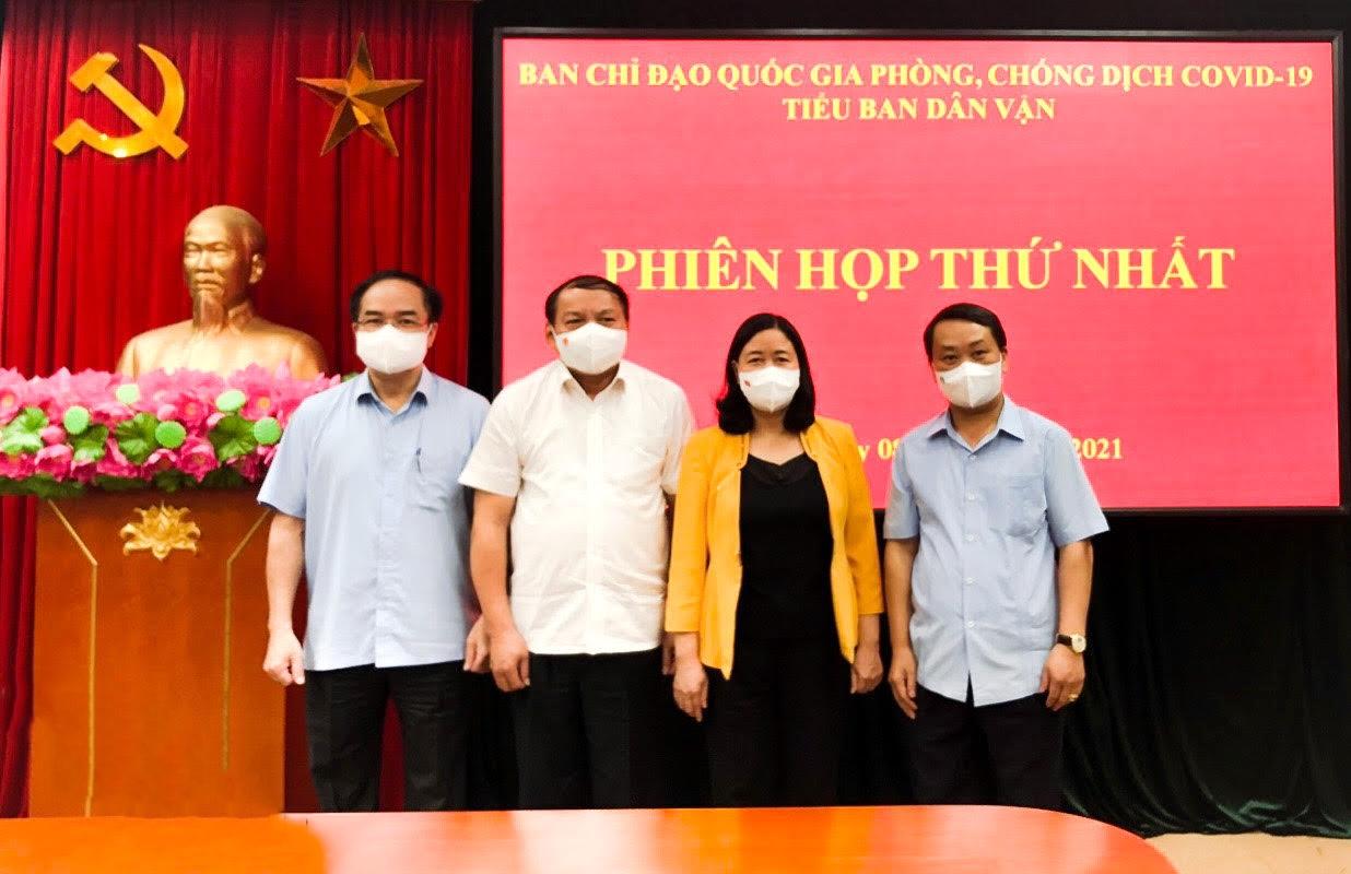 Tiểu ban Dân vận của Ban Chỉ đạo Quốc gia phòng, chóng dịch COVID -19 ra mắt