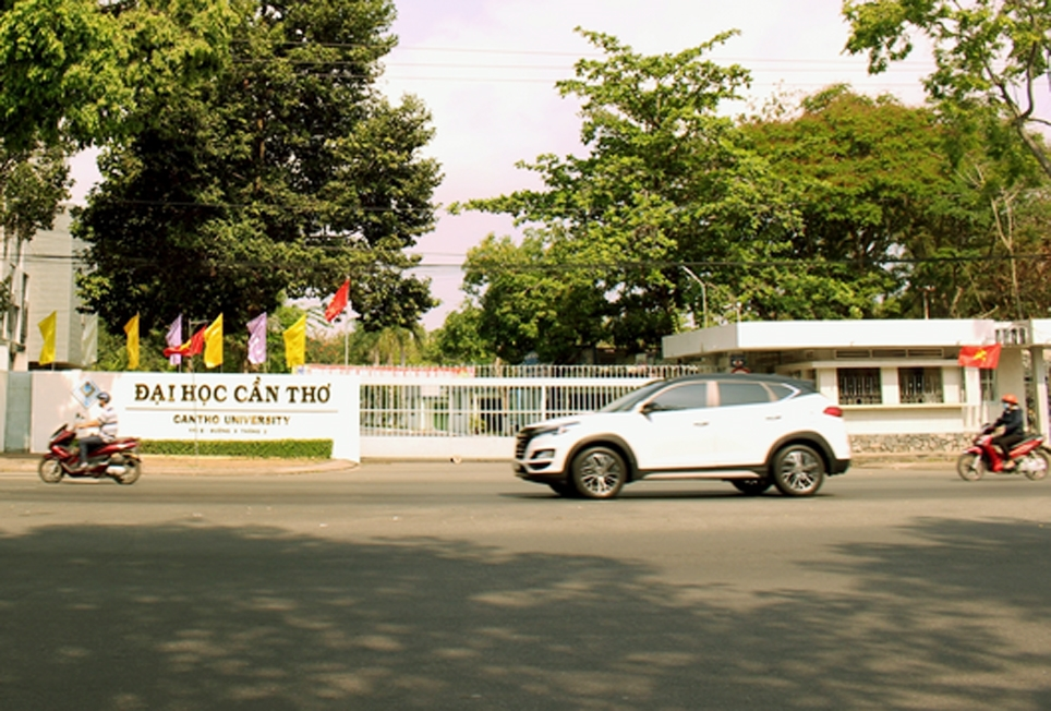 Đại học Cần Thơ - nơi vừa bị phong tỏa