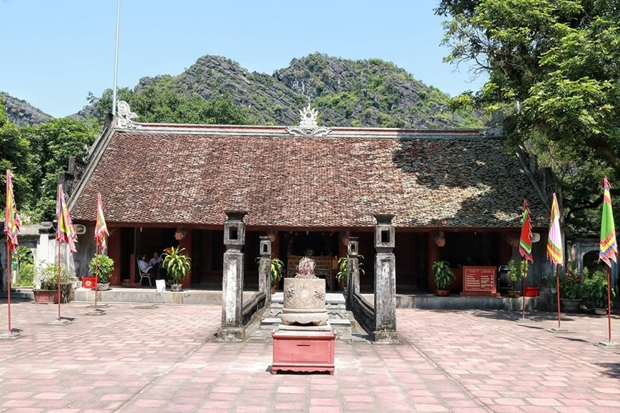 Đền thờ Vua Lê Đại Hành trong quần thể cố đô Hoa Lư (Ninh Bình).
