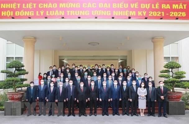 Thành viên Hội đồng Lý luận Trung ương nhiệm kỳ mới gồm 50 đồng chí, do Ủy viên Bộ Chính trị, Giám đốc Học viện Chính trị Quốc gia Hồ Chí Minh Nguyễn Xuân Thắng làm Chủ tịch Hội đồng.