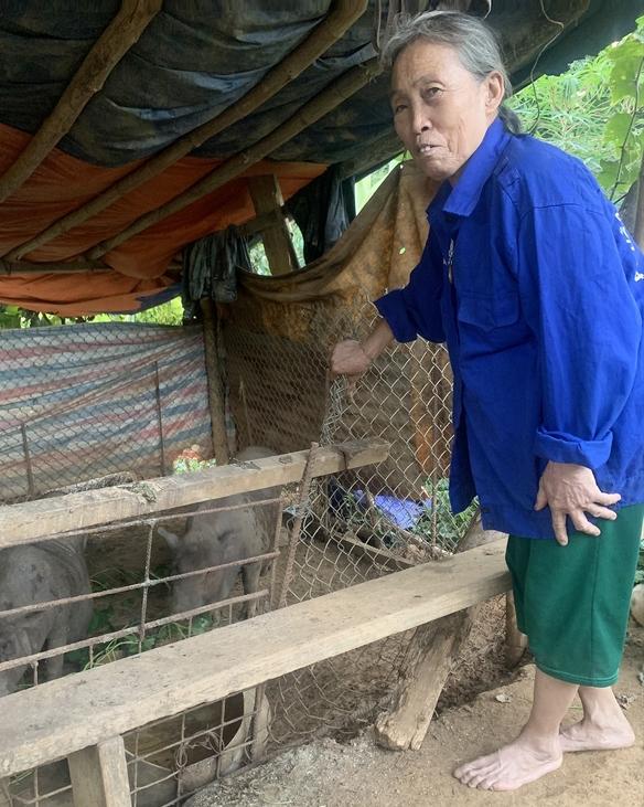 Bà Lương Thị Hạnh ở thôn Ngòi Lẫu, xã Châu Quế Thượng, huyện Văn Yên (Yên Bái) là 1 trong 6 hộ viết đơn thoát nghèo của xã