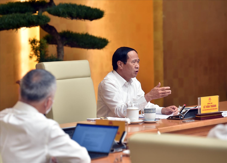 Phó Thủ tướng Lê Văn Thành: Không ban hành thêm các thủ tục, các giấy phép, gây khó khăn, cản trở lưu thông hàng hóa - Ảnh VGP/Đức Tuân