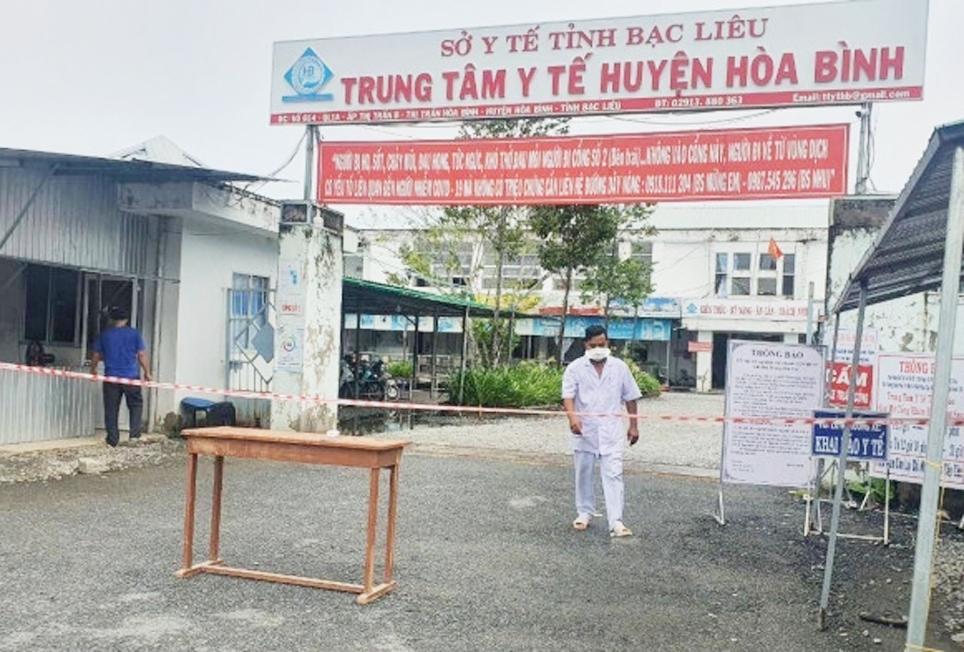 Trung tâm Y tế Hòa Bình thiết lập các chốt chặn kiểm soát dịch bệnh