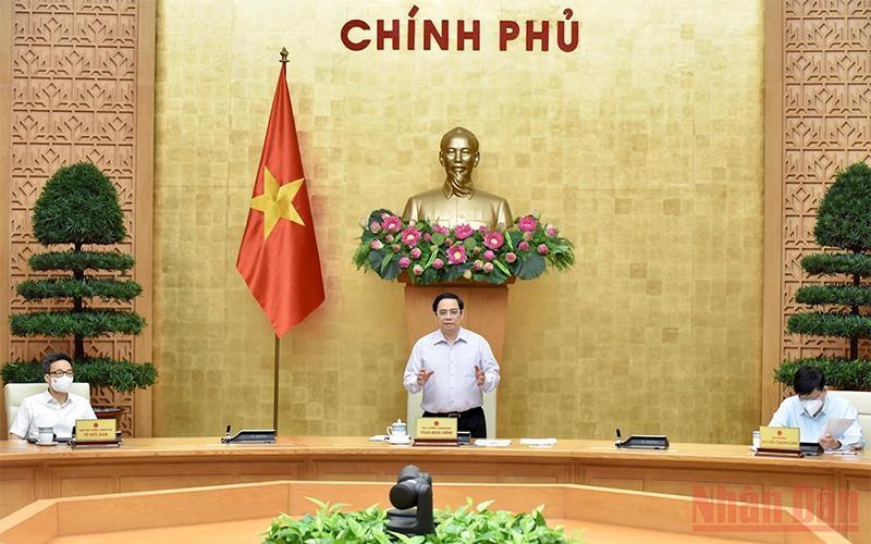 Thủ tướng Phạm Minh Chính phát biểu tại cuộc họp.
