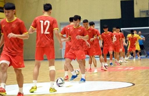 Đội tuyển futsal Việt Nam đã sẵn sàng cho Futsal World Cup 2021. Ảnh: VFF