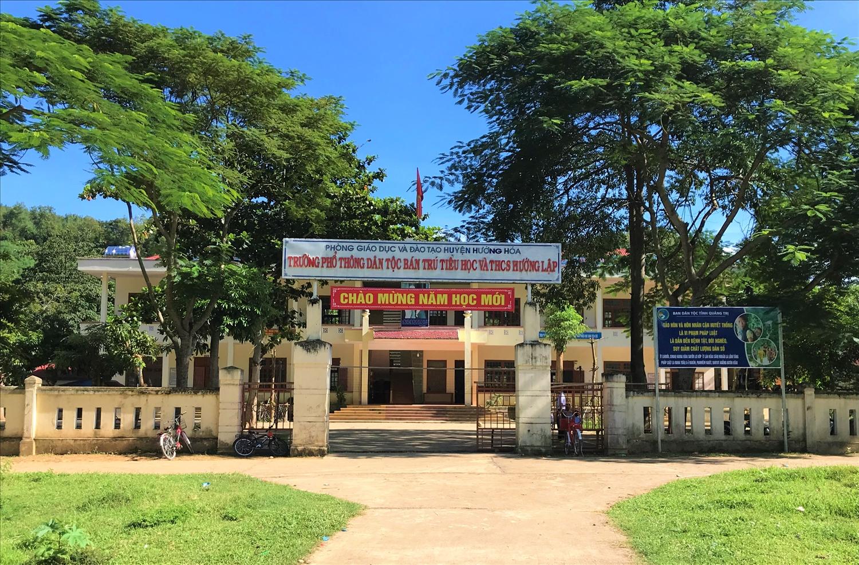 Trường PTDTBT Tiểu học và THCS xã Hướng Lập được xây dựng kiên cố khang trang