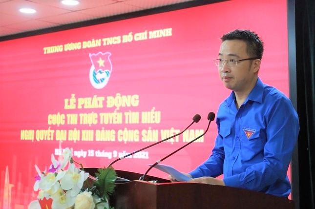 Bí thư T.Ư Đoàn Nguyễn Tường Lâm phát biểu tại Lễ phát động