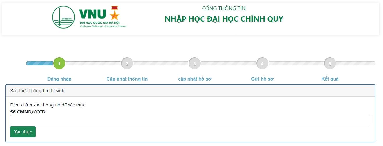 Hướng dẫn xác nhận nhập học trực tuyến và nhập học trực tuyến vào Đại học Quốc gia Hà Nội 8
