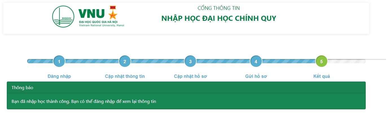 Hướng dẫn xác nhận nhập học trực tuyến và nhập học trực tuyến vào Đại học Quốc gia Hà Nội 12
