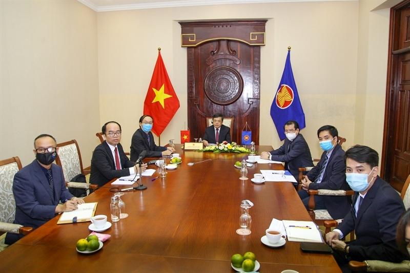 Đoàn Việt Nam tham dự phiên thảo luận của các Bộ trưởng phụ trách du lịch ASEAN trong khuôn khổ Diễn đàn Du lịch Toàn cầu (GTF) 2021 tổ chức tại Jakarta, Indonesia