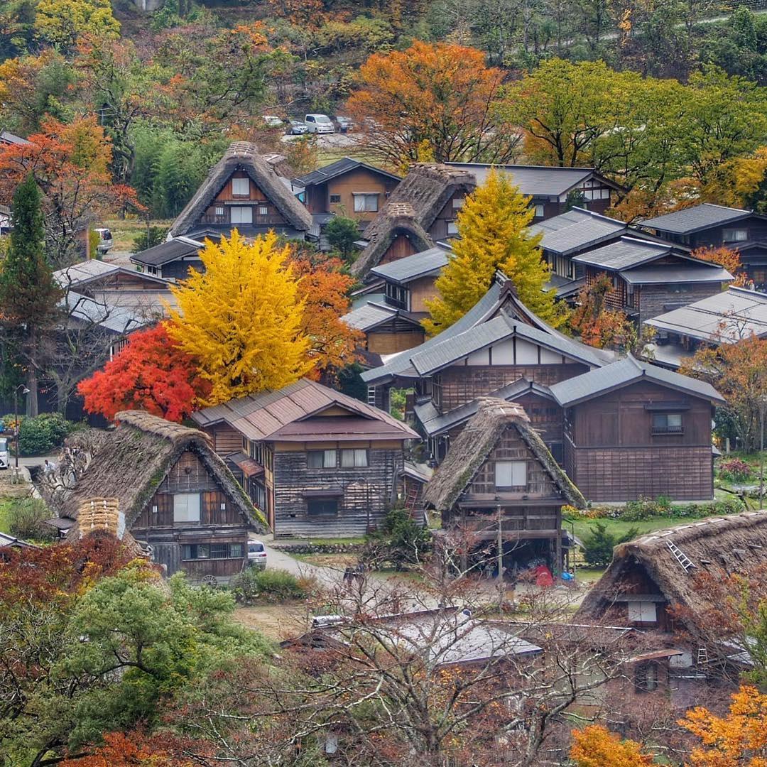 Một góc làng cổ Shirakawa-go