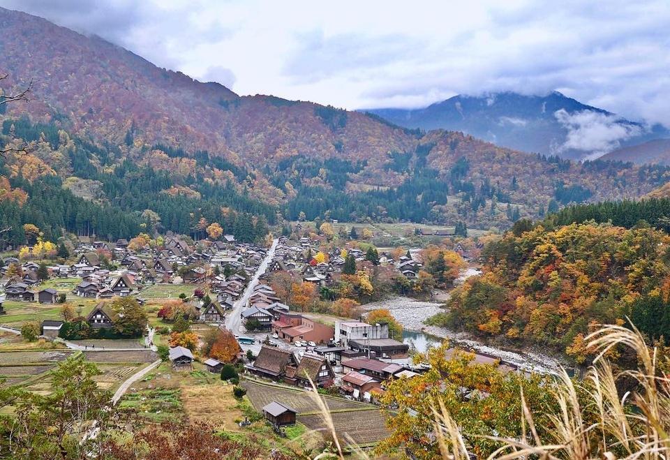 Làng cổ Shirakawago vào Thu 10