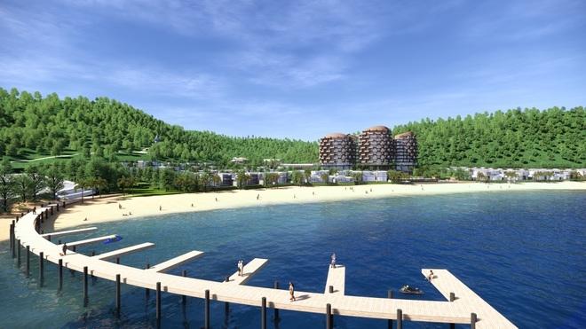 Bãi Lữ thu hút dự án lớn. Trong ảnh là một góc phối cảnh dự án Meysenses Lucia Bay Bai Lu.