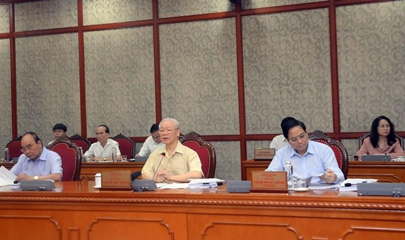 Tổng Bí Thư Nguyễn Phú Trọng phát biểu tại cuộc họp