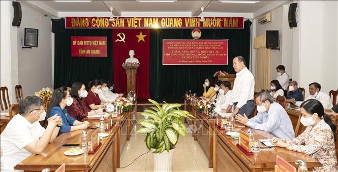 Chủ tịch UBND tỉnh An Giang Nguyễn Thanh Bình phát biểu tại buổi tiếp nhận.