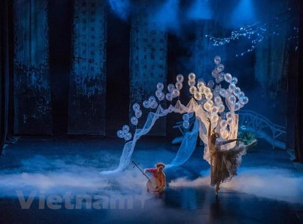 """Một cảnh trong vở ballet """"Kiều."""" (Ảnh: NS Tuyết Minh)"""