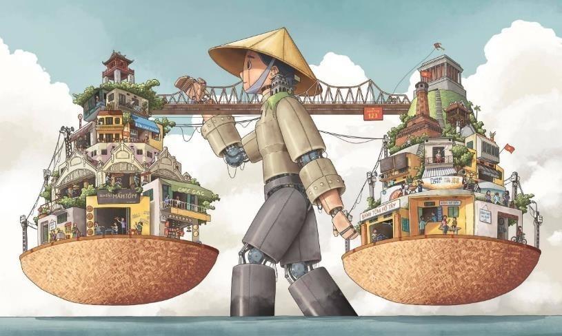 """Tác phẩm """"Hà Nội Rong' của tác giả Đặng Thái Tuấn đã đoạt giải Nhất. (Nguồn: Văn phòng UNESCO tại Việt Nam)"""