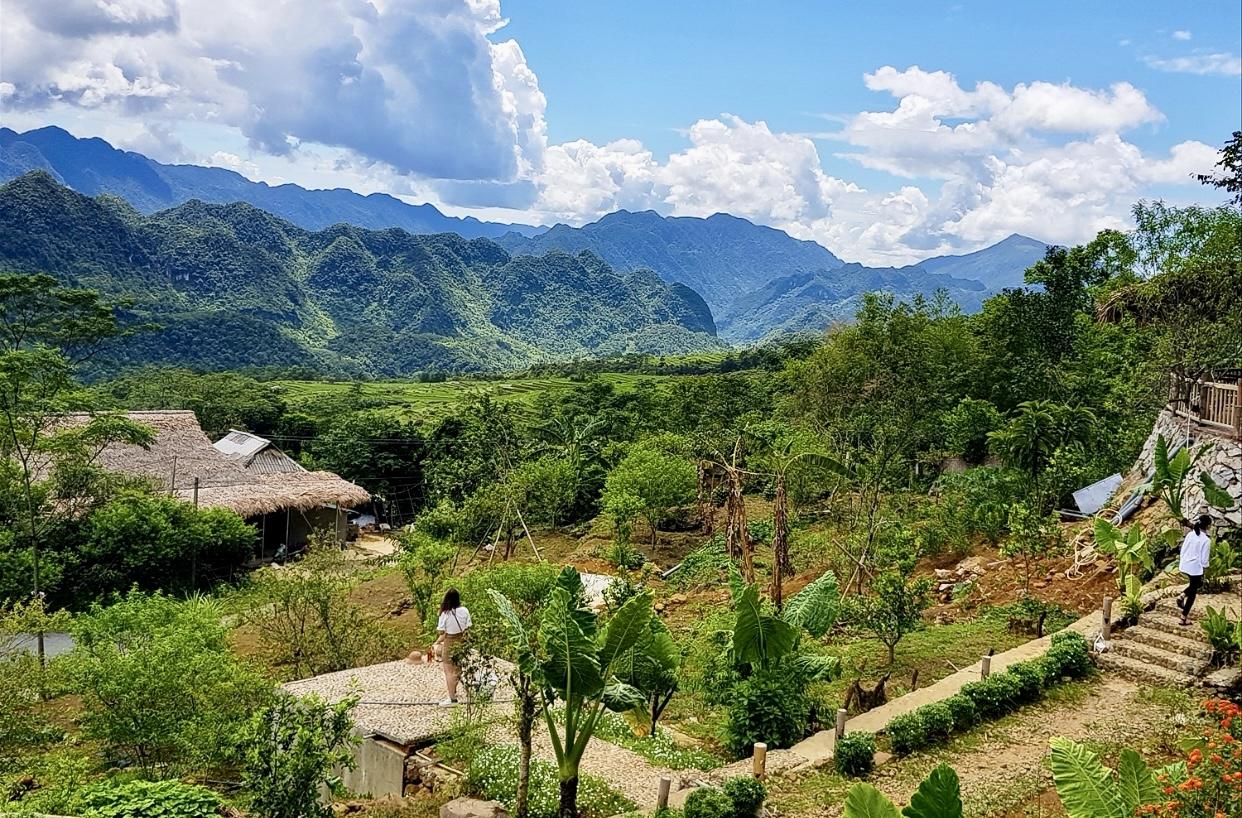 Điểm du lịch Pù Luông, xã Thành Lâm từ lâu đã nổi tiếng trong nước và thế giới