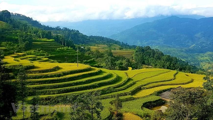 Hoàng Su Phì là huyện vùng cao giáp biên nằm về phía Tây của tỉnh Hà Giang. Nơi đây cũng là vùng đất tập trung nhiều dân tộc sinh sống như Dao, Mông, La Chí, Tày, Nùng... (Ảnh: Đỗ Hùng/Vietnam+)