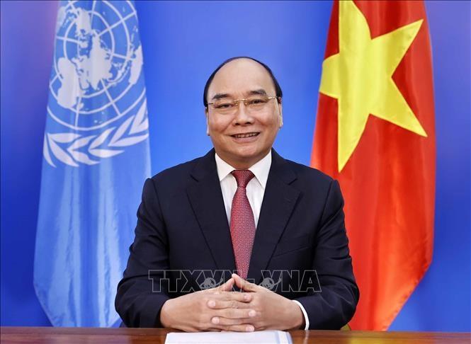 Chủ tịch nước Nguyễn Xuân Phúc dự Hội nghị thượng đỉnh các hệ thống lương thực của Liên hợp quốc. Ảnh: Thống Nhất/TTXVN