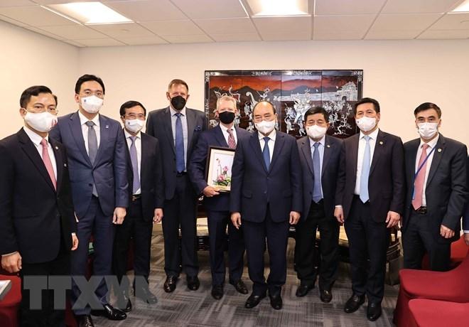 Chủ tịch nước Nguyễn Xuân Phúc tiếp lãnh đạo Tập đoàn Exxon Mobil