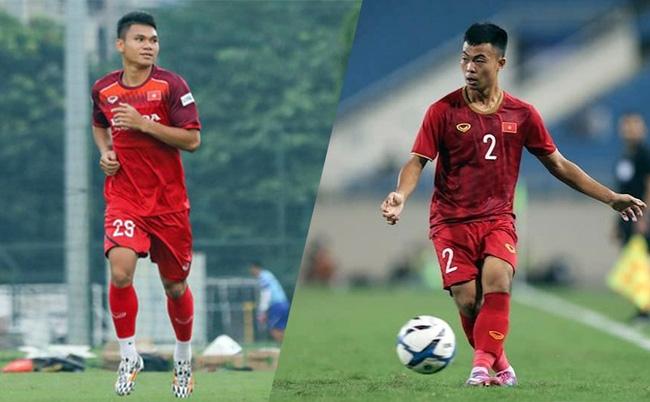 Xuân Mạnh (bên trái) và Thanh Thịnh được triệu tập bổ sung lên đội tuyển Việt Nam. Ảnh: VFF