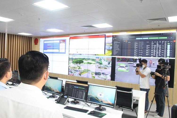 Trung tâm điều hành thông minh của tỉnh Thái Nguyên.