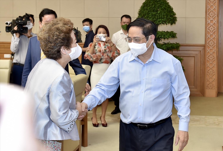 Thủ tướng Phạm Minh Chính và các đại biểu dự Hội nghị - Ảnh: VGP/Nhật Bắc