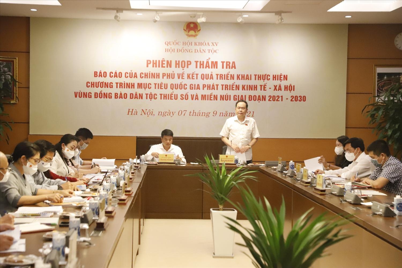 Phó Chủ tịch Thường trực Quốc hội Trần Thanh Mẫn phát biểu chỉ đạo tại phiên họp