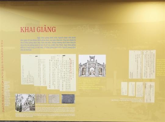 Những tư liệu về lễ khai giảng dưới triều Nguyễn