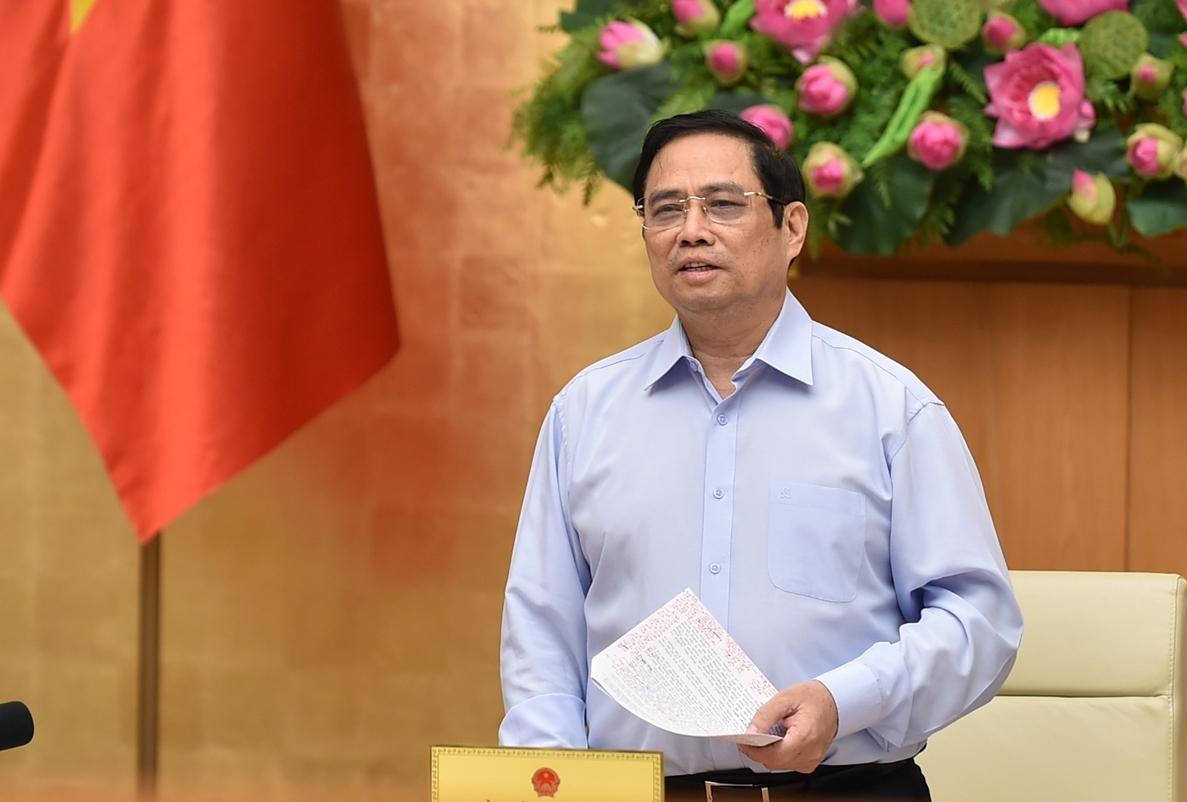 Thủ tướng Phạm Minh Chính: Đưa hoạt động khai thác hải sản trở lại lành mạnh, thúc đẩy ngành Thủy sản phát triển đúng hướng. (Ảnh: VGP/Nhật Bắc)