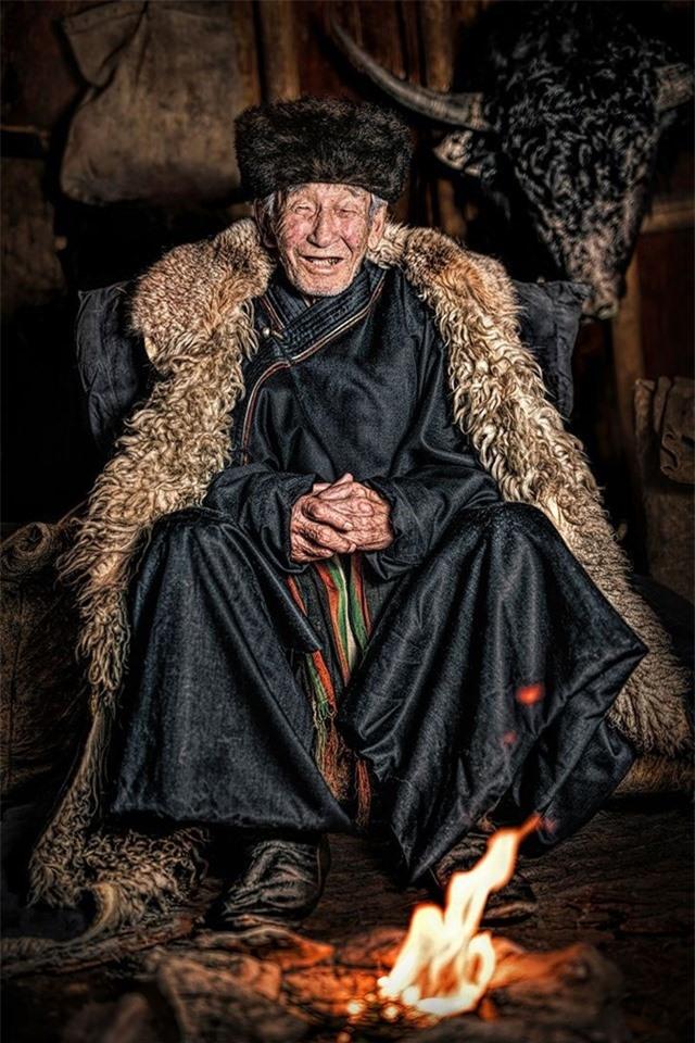 Một trong những trưởng lão cuối cùng của người bản địa Soyot