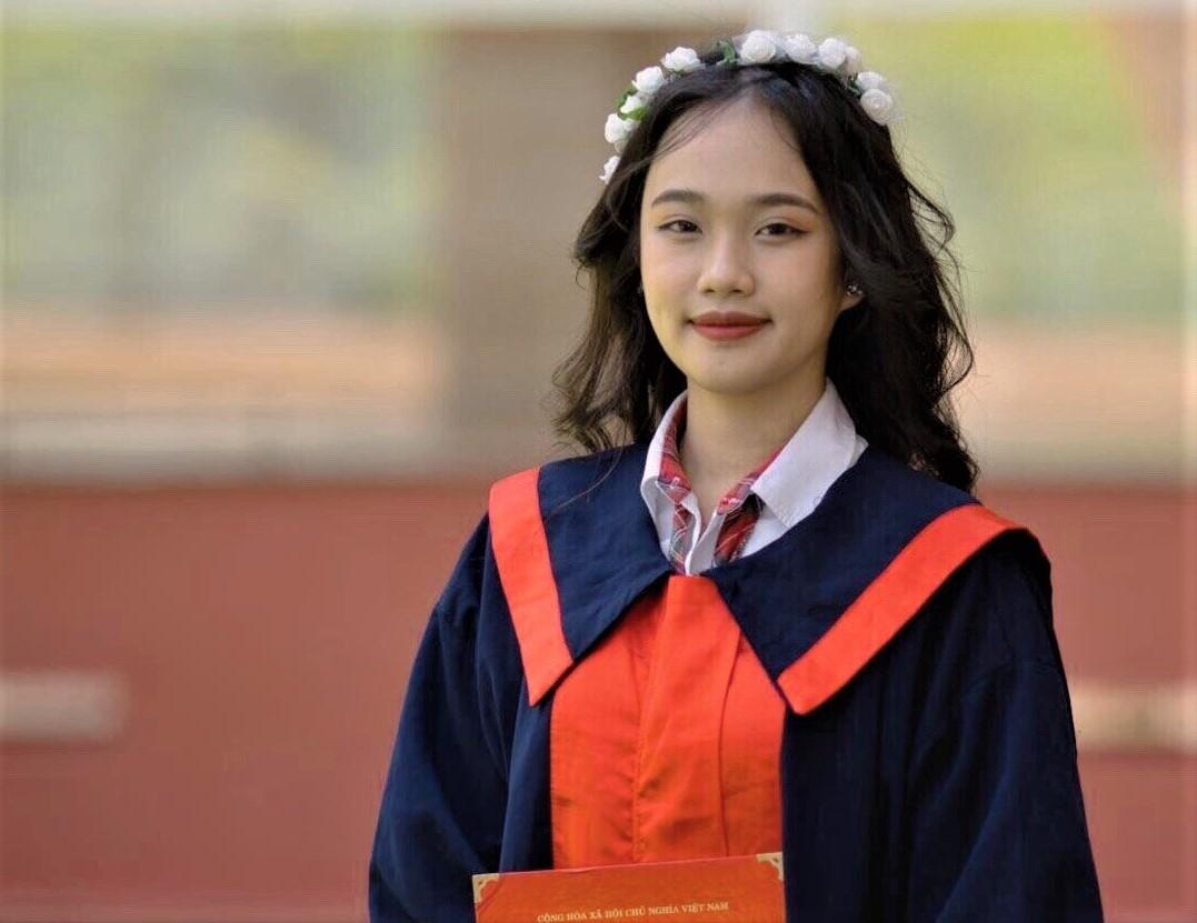 Nữ sinh Phan Thị Thảo Trang, tân sinh viên trường ĐH Fulbright Việt Nam.