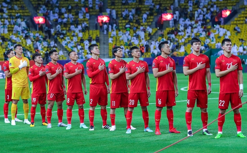 Đội tuyển Việt Nam sẵn sàng để gây bất ngờ trước tuyển Trung Quốc. Ảnh: VFF