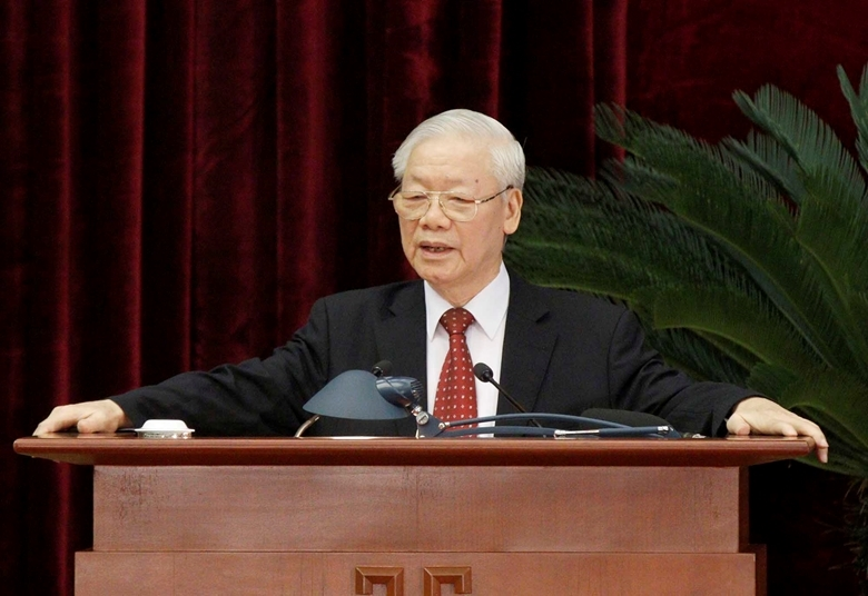 Tổng Bí thư Nguyễn Phú Trọng phát biểu bế mạc Hội nghị