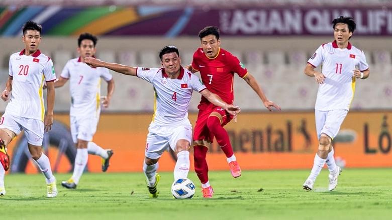 Đội tuyển Việt Nam thua đáng tiếc trước đội tuyển Trung Quốc ở phút bù giờ cuối cùng. (Ảnh: VFF